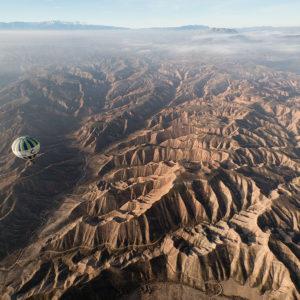 vuelo en globo por el geoparque de granada